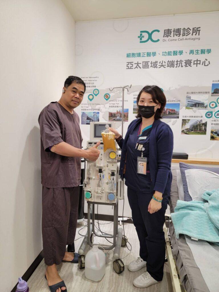 陳大哥接受完血液療程覺得很開心